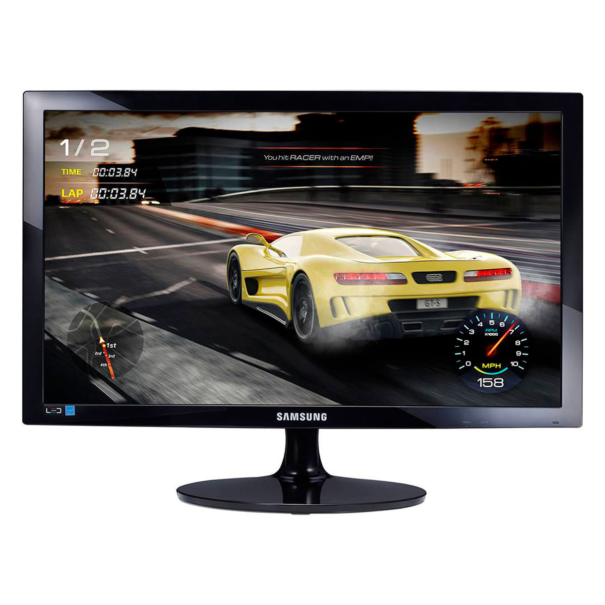 Foto 1 - Monitor Game Samsung 24 Polegadas LED Full HD LS24D332HSX/ZD